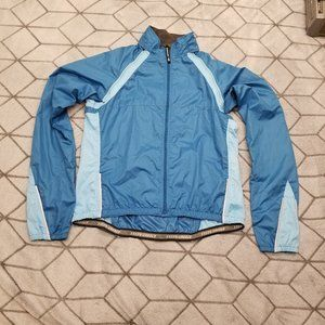 B30 Novara Womens Blue Full Zip Up Cycling Jacket